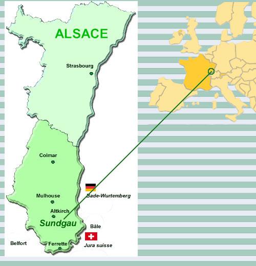 Carte Alsace Sundgau.Villes Et Villages Du Sundgau Isundgau Chroniques